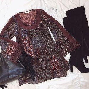 Altar'd State NWOT Boho Lace Tunic Dress Size M